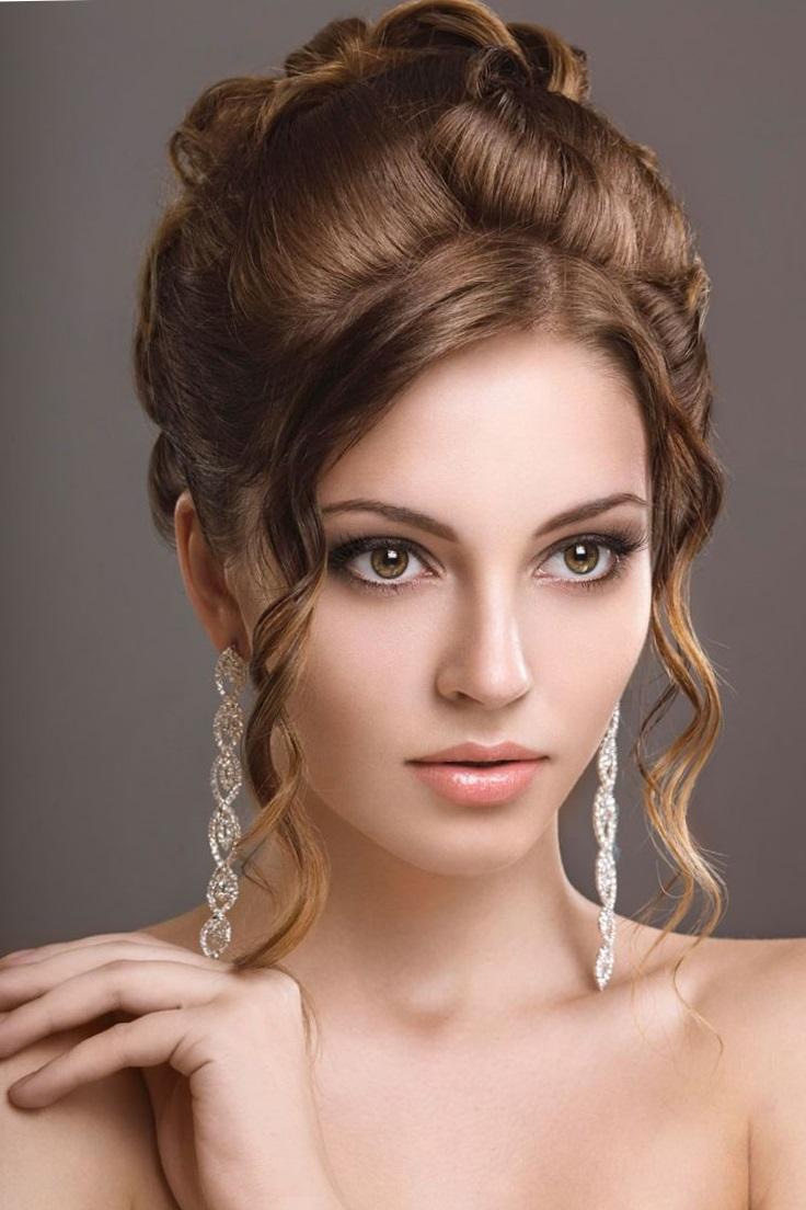 Вечерние причёски на длинные волосы фото с челкой своими руками фото 644