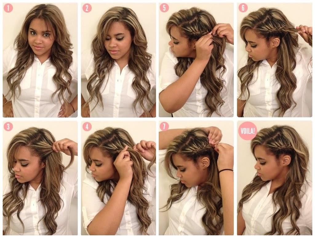 Красивые прически на длинные и средние распущенные волосы