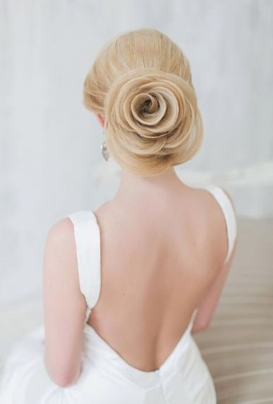 Свадебная прическа высокий и низкий пучок с фатой и без нее