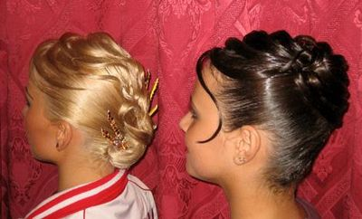 Прически для бальных танцев для девочек и мальчиков - фото
