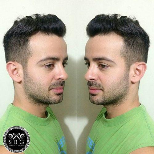 Мужские прически с зачесом назад - фото, название