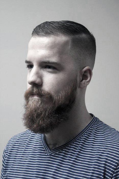 Мужские стрижки с бородой- фото коротких и длинных причесок