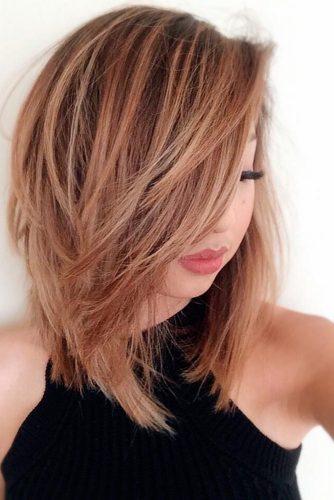 Женские стрижки на средние волосы без укладки