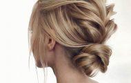 Объемные прически на средние волосы